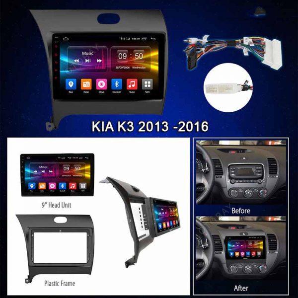MÀN HÌNH DVD ANDROID 4G XE KIA K3 2014-2016