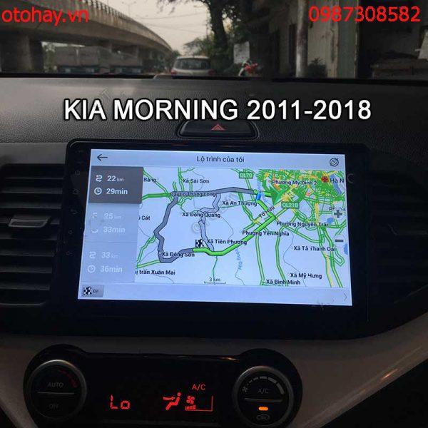 MÀN HÌNH DVD ANDROID 4G XE KIA MORNING 2011-2016