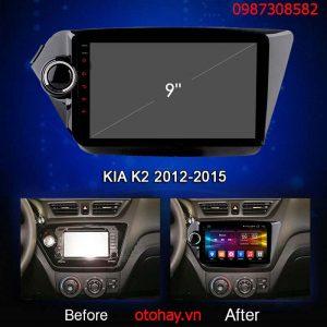 MÀN HÌNH ANDROID 4G XE KIA K2 2012-2015