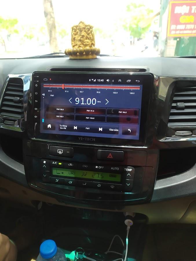 màn hình android nghe radio