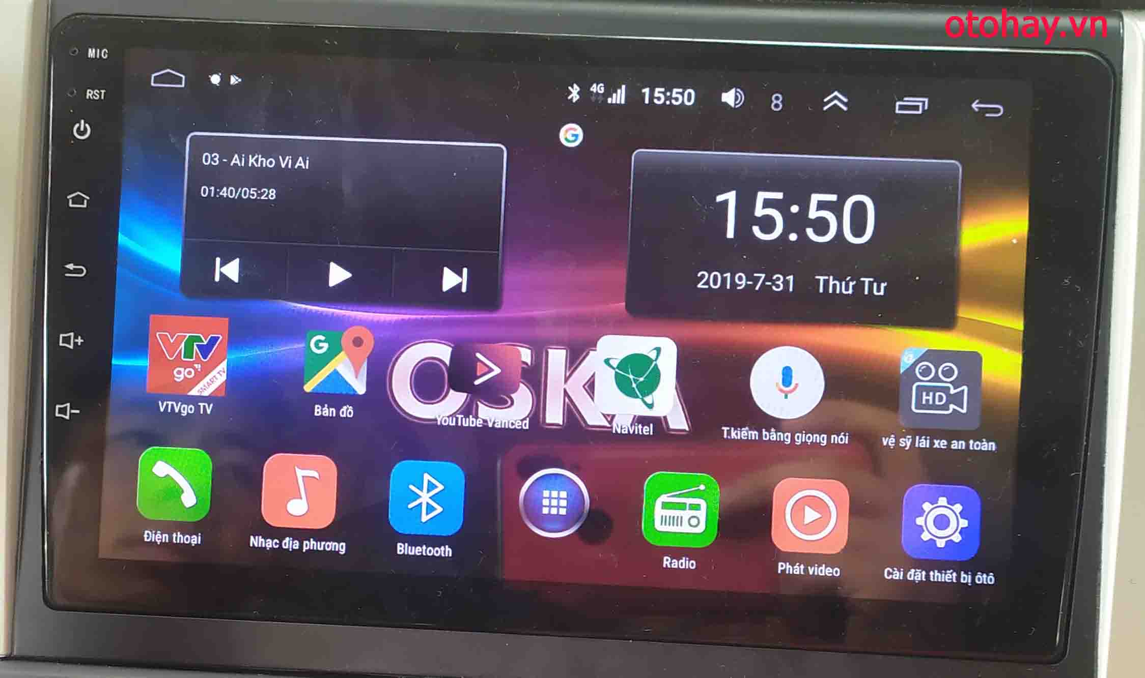 ĐẦU DVD ANDROID TOYOTA FORTUNER 2015-2017