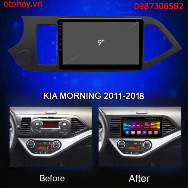 ĐẦU MÀN HÌNH DVD ANDROID 4G XE KIA MORNING 2011-2018