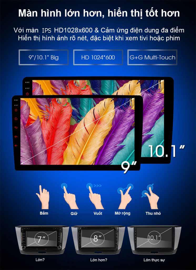 màn hình công nghệ ips chống lóa MÀN HÌNH DVD ANDROID 4G XE NISSAN TEANA 2013-2016