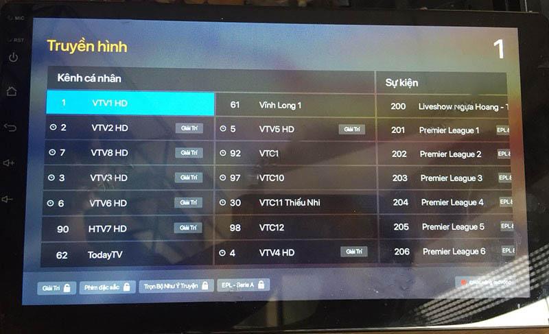 truyền hình vtv trực tuyến ĐẦU MÀN HÌNH ANDROID 4G