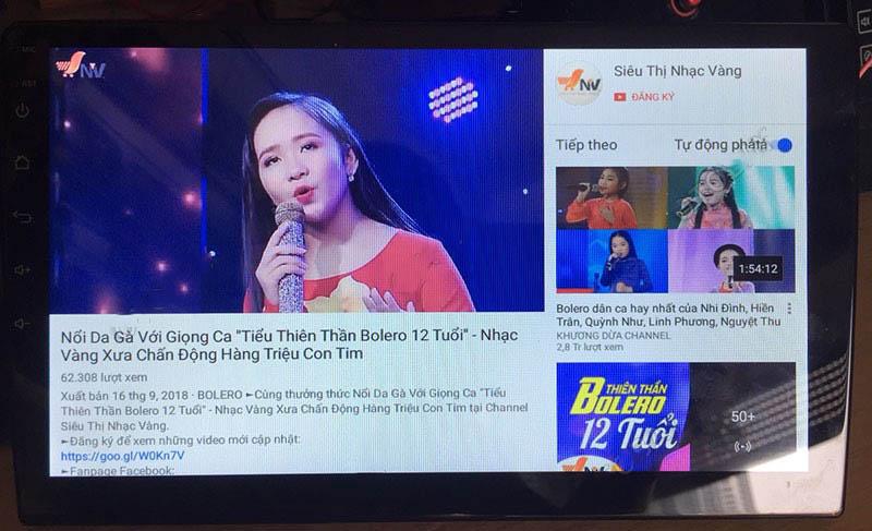 giải trí hoàn hoản với youtobe MÀN HÌNH DVD ANDROID 4G XE KIA MORNING 2011-2018