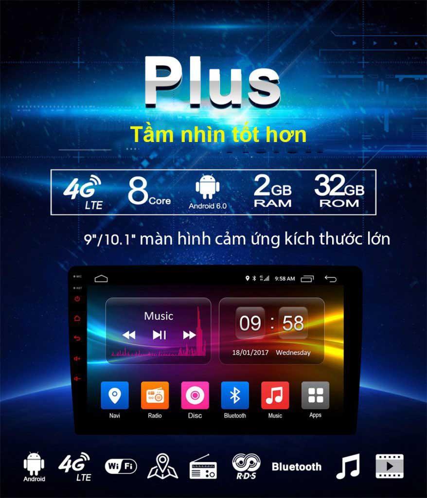 màn hình android oto cấu hình mạnh mẽ nhấtMÀN HÌNH DVD ANDROID 4G XE KIA MORNING 2011-2018