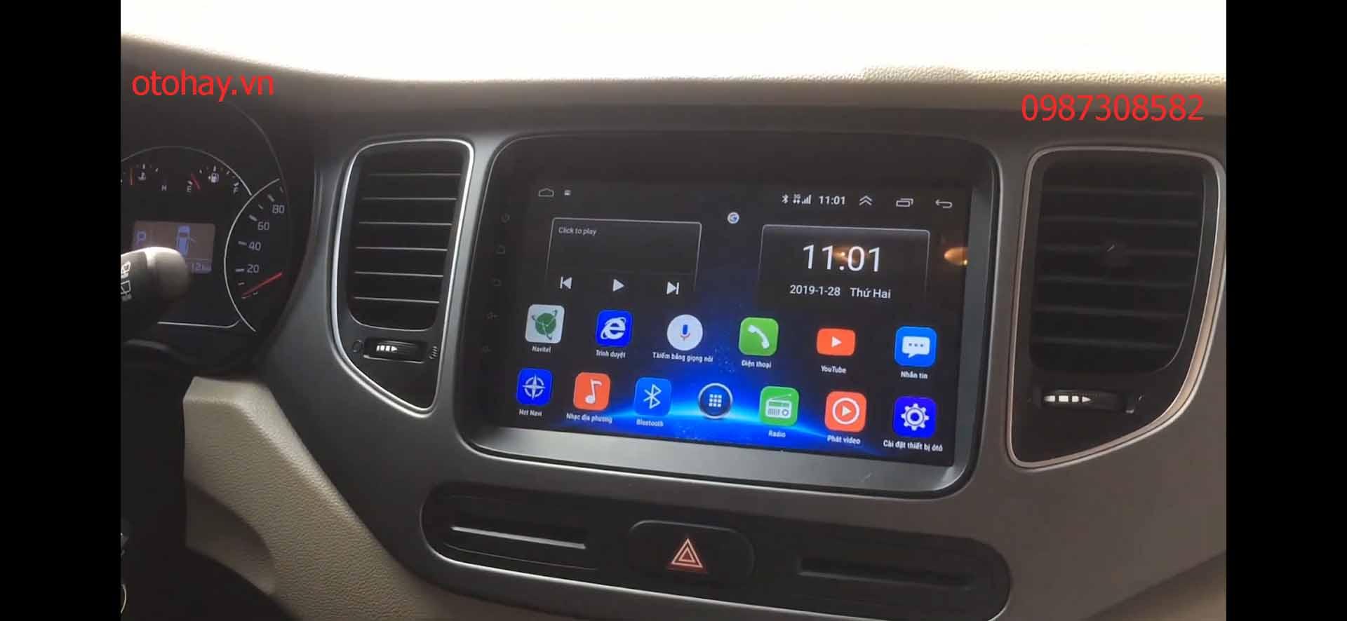 Lắp đầu dvd android 4g cho xe kia rondo