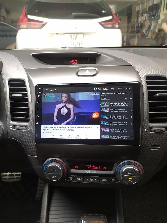 Lắp đầu dvd android 4g cho xe kia k3