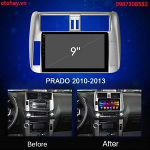 dau man hinh dvd android cho xe toyota prado 2010-2011-2012-2013-otohay